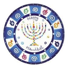 hanukkah plate want to do one like this but angled to side and blue background