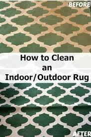 how to clean an indoor outdoor area rug