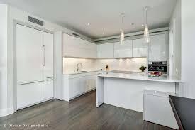 White Floor L Kitchen Best White Kitchen Design With Textured Wood Floor And