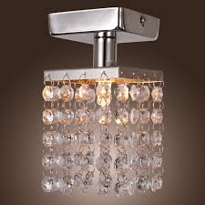 Modern Ceiling Lights by Lightinthebox Mini Semi Flush Mount In Crystal Chrome Finish
