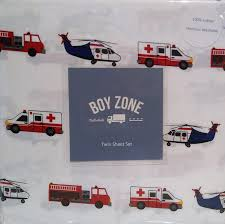 high quality boy zone emergency vehicle 3 piece 100 cotton sheet