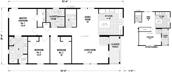 Floor Plans For Mobile Homes Double Wide Vineland 26 X 53 1316 Sqft Mobile Home Factory Expo Home Centers