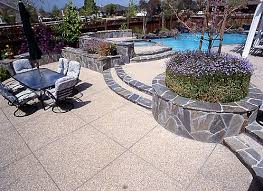 Exposed Aggregate Patio Pictures by Patios Bcp Concrete
