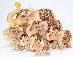 Home Decor Figurines Amazon Com Feng Shui Set Of 7 Vintage Elephant Family Statues