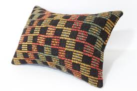 bohemian kilim pillow turkish kilim pillow 16x24 zigzag