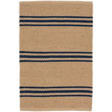 Stripe Indoor Outdoor Rug Stripe Indoor Outdoor Rug Navy Camel Scenario Home