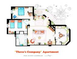accurate floor plans of 15 famous tv show apartments three u0027s