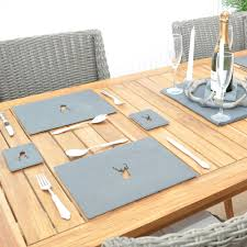 stag slate placemats roman at home