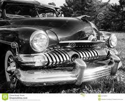vintage cars 1950s 1950s classic car in black and white royalty free stock