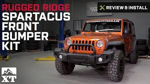 jeep front bumper jeep wrangler rugged ridge spartacus front bumper kit 2007 2017