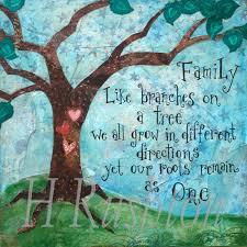 family quote family tree art mixed media art print home