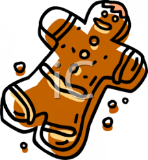gingerbread man and cookie crumbs clipart image foodclipart com