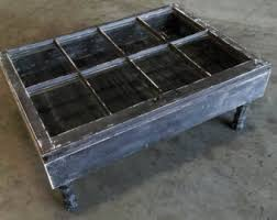 Rustic Storage Coffee Table Rustic Coffee Table Etsy