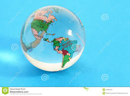 Map Of Globe Glass Globe With Political Map Of World Stock Images Image 25096244