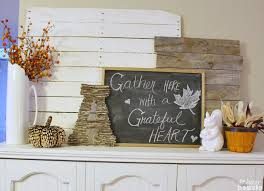 Rustic Mantel Decor Rustic And Natural Fall Mantel Decor The Happy Housie