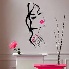 H And M Home Decor Wall Decal Beauty Salon Manicure Nail Salon Hand Face Vinyl