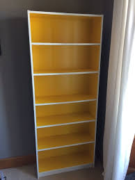 billy white bookcase ikea white and yellow billy bookcase in east end glasgow gumtree