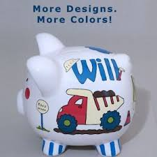 customized piggy bank personalized piggy banks painted more