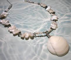 white shell pearl necklace images Del 39 s shells seashell jewelry JPG