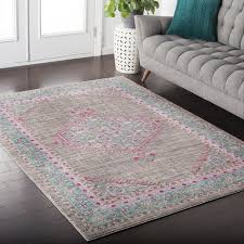 Purple And Grey Area Rugs Outstanding Rug Pink And Grey Area Nbacanottes Rugs Ideas Inside
