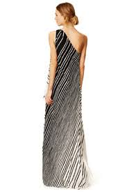 draped stripe maxi dress by halston heritage for 158 rent the