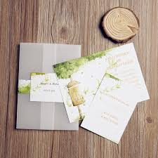 pocket wedding invitation country rustic farm pocket wedding invitation with free rsvp cards