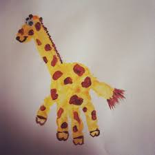 toddler art handprint giraffe pins i u0027ve done pinterest