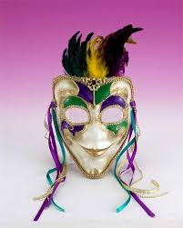 green mardi gras mask venetian mask purple green gold