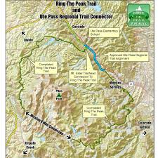 Colorado Springs Co Map by Ring The Peak Trail Tosc