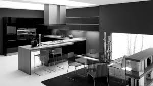 Black Modern Kitchen Cabinets Elegant L Shaped Kitchen Design With White Window Frame And Marble
