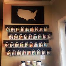 different shapes coffee mug online coffee mug display 1x4 u0027s black paint c shaped hooks i had