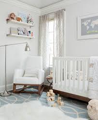 Modern Nursery Rocking Chair Rocking Chair Modern Kids Transitional With Blue Nursery Fur Throw