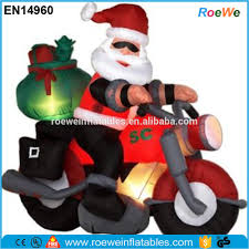 Outdoor Christmas Decorations Motorcycle by Inflatable Santa On Motorcycle Inflatable Santa On Motorcycle