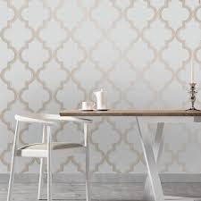 temporary wall paper tempaper marrakesh temporary wallpaper bronze gray design public