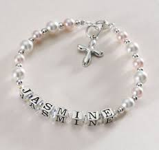 communion jewellery sterling silver personalised bracelet holy communion