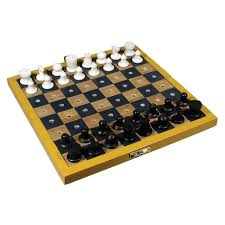 amazon com travel chess set for the blind or those with low