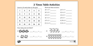 2 x tables worksheet 2 times table activity sheet 2 times tables counting 2s 2s