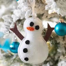 unique snowman ornaments snowman ornament and felting