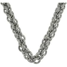 round chain necklace images Carolina glamour collection stainless steel double round link jpg