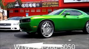 Dodge Challenger Accessories - acewhips net wtw customs candy green dodge challenger on 26