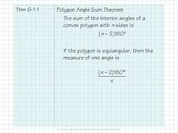 Interior Angles Of Polygon 2 7 1 Properties Of Polygons