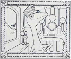 coloring dinosaur train coloring pages