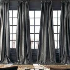 Steel Grey Curtains Steel Gray Taffeta Silk Curtain Window Dressing Draping Home