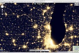 Wisconsin Map Google by The U201cblack Marble U201d City Lights At Night Cimss Satellite Blog