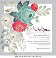 vector illustration beautiful floral bouquet frame stock vector