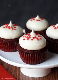 red velvet cupcakes with cream cheese frosting life love and sugar