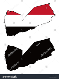 Map Of Yemen Vector Map Flag Yemen White Background Stock Vector 32078629