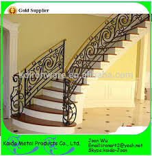Decorative Railing Interior Morden Interior Wrought Iron Metal Stairs Railings Design With