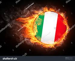 Flag On Fire Italy Flag Fire Computer Graphics Stock Illustration 52302166