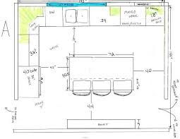 kitchen island space requirements space needed between island and counter search kitchen